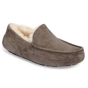 🔥New Ugg Mens Ascot Charcoal Moccasin slippers